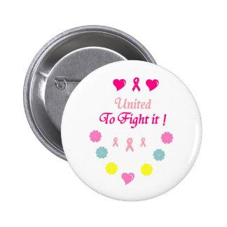 Vereinigt zum Kampf-Brustkrebs Anstecknadelbuttons