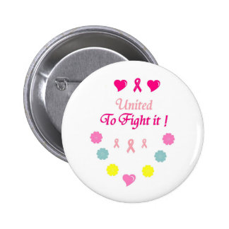 Vereinigt zum Kampf-Brustkrebs Runder Button 5,1 Cm