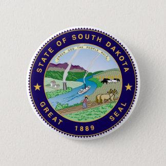 vereinigte Amerika-Republik South- DakotaStaat Runder Button 5,1 Cm