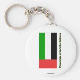 Vereinigte Arabische Emirat Flagge MIT Namen Schlüsselbänder