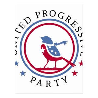 Vereinigte progressive Party-Schal-Logo-Waren Postkarte