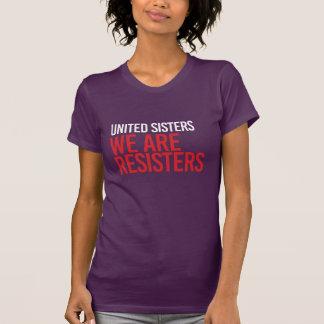 VEREINIGTE SCHWESTERN SIND WIR GEGNER - - Weiß - T-Shirt
