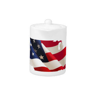 Vereinigte Staaten bewegen Flagge wellenartig