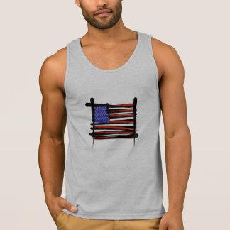Vereinigte Staaten bürsten Flagge Tank Top