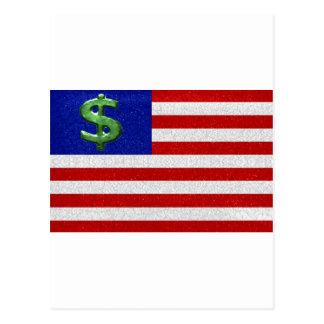 Vereinigte Staaten des Geldes Postkarte