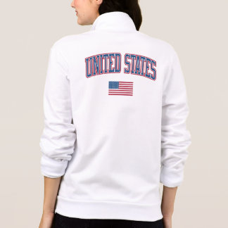 Vereinigte Staaten + Flagge Bedruckte Jacke