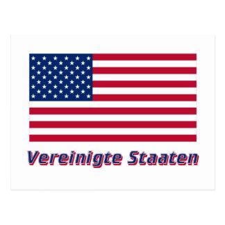 Vereinigte Staaten Flagge MIT Namen Postkarte