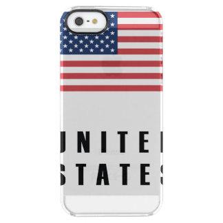 Vereinigte Staaten kennzeichnen einfache Durchsichtige iPhone SE/5/5s Hülle