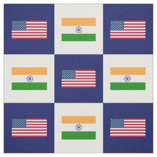 Vereinigte Staaten kennzeichnen, Indien-Flagge auf Stoff