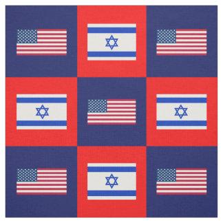 Vereinigte Staaten kennzeichnen, Israel-Flagge auf Stoff
