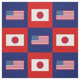 Vereinigte Staaten kennzeichnen, Japan-Flagge auf Stoff