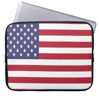 Vereinigte Staaten kennzeichnen Laptopschutzhülle