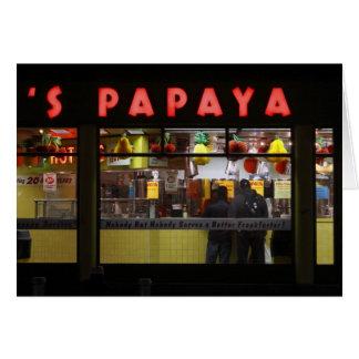 Vereinigte Staaten, New York. Die Papaya des Karte