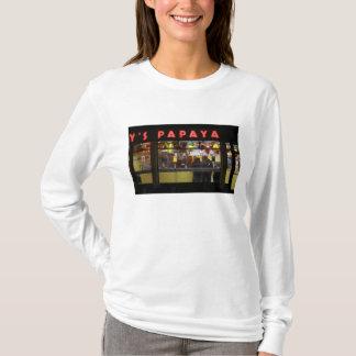 Vereinigte Staaten, New York. Die Papaya des T-Shirt