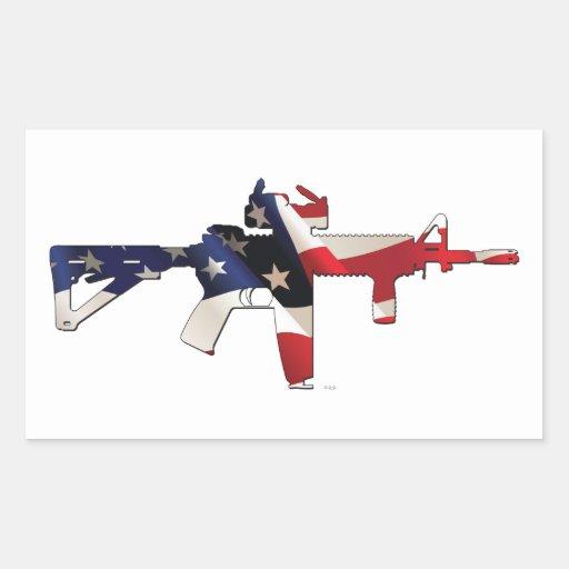 Vereinigte Staaten, Patriot, Flagge und Militär Rechteckige Sticker