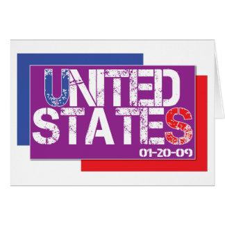 Vereinigte Staaten sind lila Grußkarte