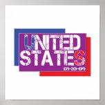 Vereinigte Staaten sind lila Posterdruck