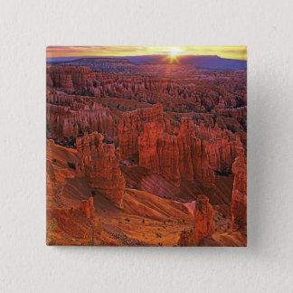 Vereinigte Staaten, Utah, Bryce Quadratischer Button 5,1 Cm