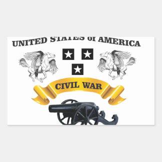 Vereinigte Staaten winged Pferd cw Rechteckiger Aufkleber