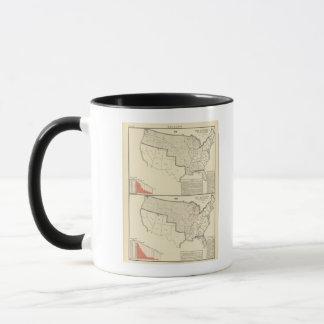 Vereinigte Staaten zwei Farbe lithographierte Tasse