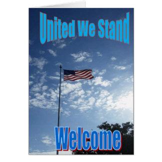 """""""Vereinigte uns stehen"""" neue US-Bürger-Karte Grußkarte"""