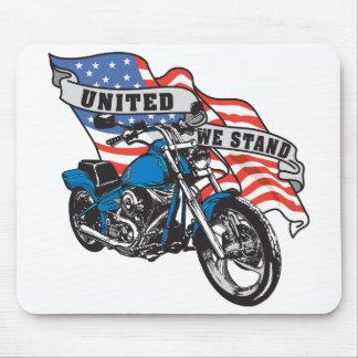 Vereinigter Stand-Amerikaner-Radfahrer Mousepad
