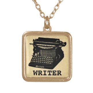 Verfasser-antike Schreibmaschine Halskette