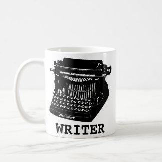 Verfasser-antike Schreibmaschine Kaffeetasse