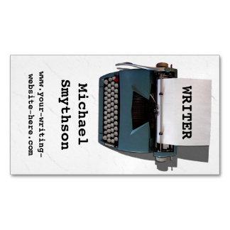 Verfasser-Autorn-Retro Schreibmaschine auf Visitenkartenmagnet