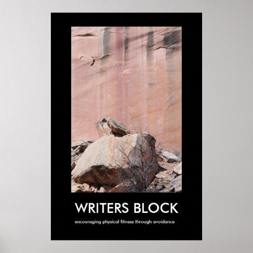 VERFASSER-BLOCK Demotivational Plakat