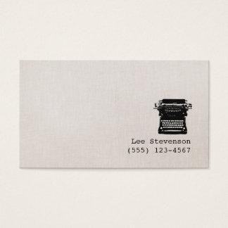 Verfasser-Imitat-Vintage Leinenschreibmaschine Visitenkarte