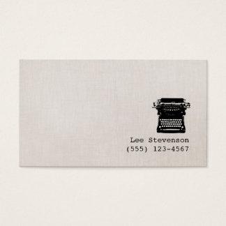 Verfasser-Imitat-Vintage Leinenschreibmaschine Visitenkarten