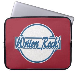 Verfasser-Rock-Kreis-Logo-Blau-Schmutz Laptop Sleeve