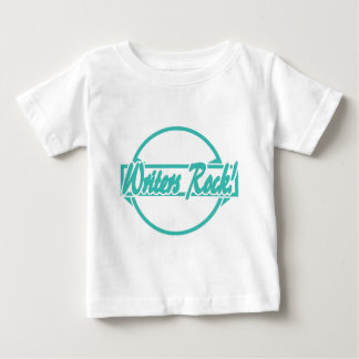 Verfasser-Rock-Kreis-Logo-Türkis-Schmutz Baby T-shirt