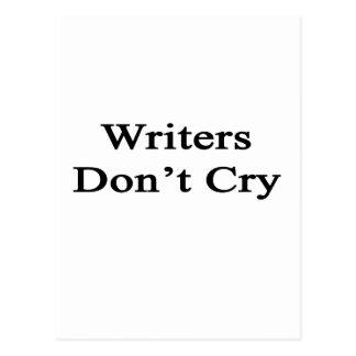 Verfasser schreien nicht postkarte