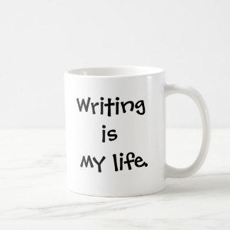 Verfasser-Tasse - Schreiben ist mein Leben - Kaffeetasse