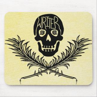 Verfasser-Totenkopf mit gekreuzter Knochen-Spulen Mousepad