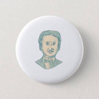 Verfasser-Zeichnen Edgar Allan Poe Runder Button 5,7 Cm