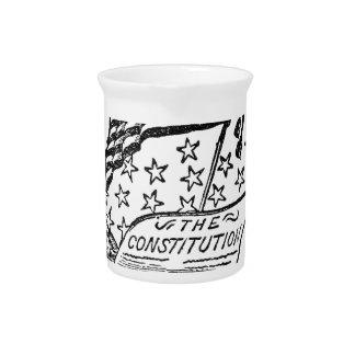 Verfassung der Vereinigten Staaten Getränke Pitcher