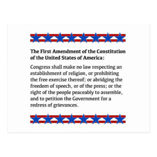 Verfassungszusatz-Rechte Postkarte