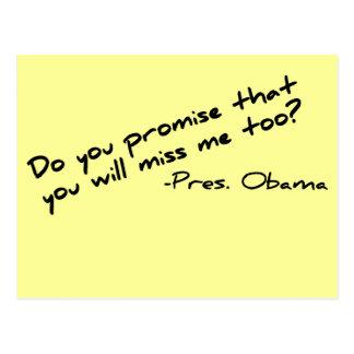 Verfehlen Sie Obama im Jahre 2012 Postkarte