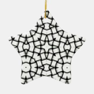 Verflochtener abstrakter Hintergrund Keramik Stern-Ornament