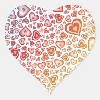 Verflochtener Herz-Entwurf Herz-Aufkleber