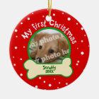 Verfolgen Sie mein erstes Weihnachtsrotes und Keramik Ornament