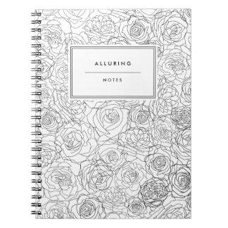Verführerisch mit Blumen - Anmerkungs-Buch Notizblock