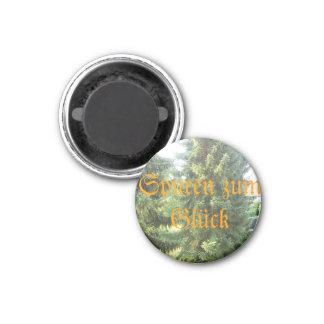 Vergangenheitspuren zum Glück Runder Magnet 2,5 Cm