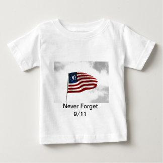 Vergessen Sie 9/11- nie Flug 93 Baby T-shirt