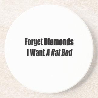 Vergessen Sie Diamanten, die ich eine Ratte Rod Untersetzer