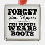 Vergessen Sie Glaspantoffel, diese Prinzessin Wear Weihnachtsbaum Ornament