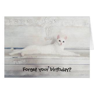 Vergessen Sie Ihren Geburtstag? Karte